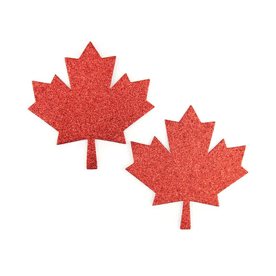 Oh Canada Glitter Maple Leaf Pasties