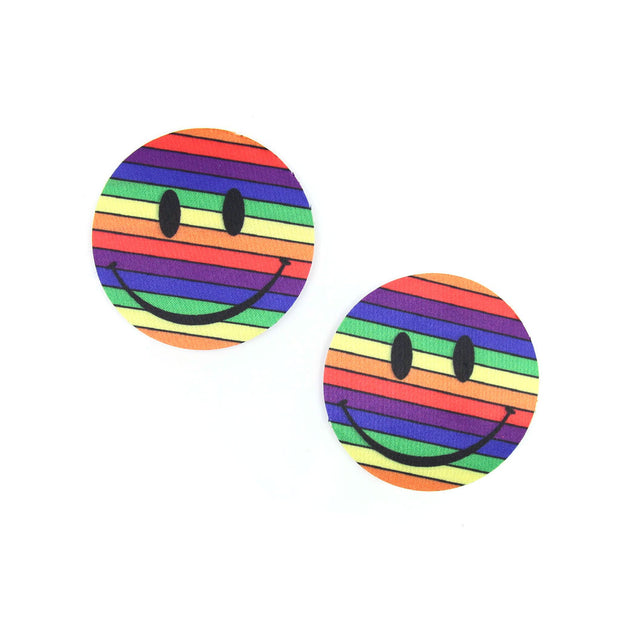 One Love - Rainbow Smile Nipple Pasties