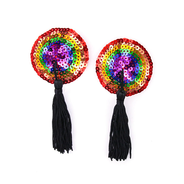 Nipple Rainbow Sequin Pasties & Tassels