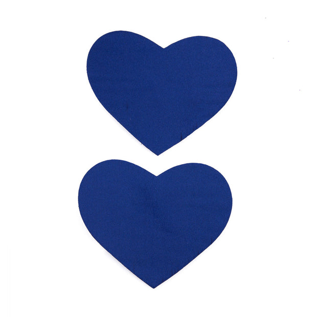 Blue Heart Shape Satin Nipple Pasties and Tassels – Appeeling