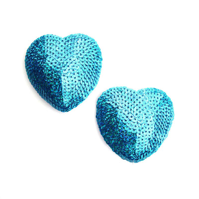 Aquamarine Heart Shape Nipple Pastie