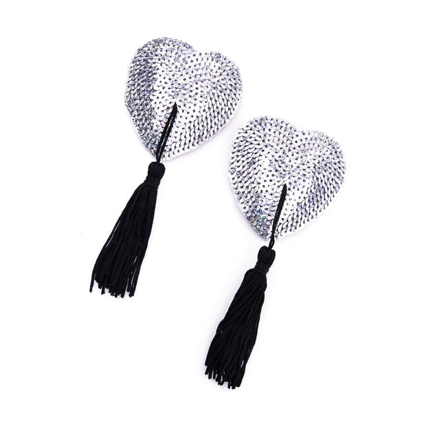 Silver Lolita la Chance Nipple Pasties and Tassels – Appeeling
