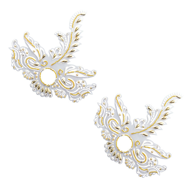 Feather Me Fabulous Gold Pasties – Appeeling