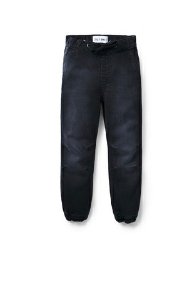 Jackson: Black Denim Joggers