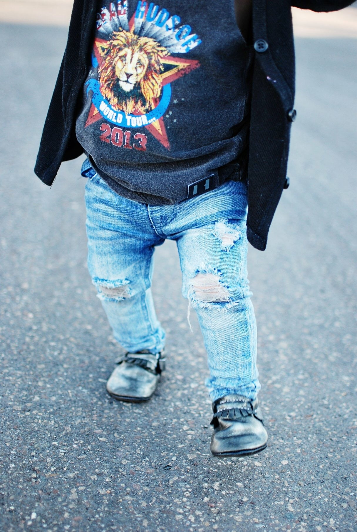 Blue Distressed Denim Jeggs