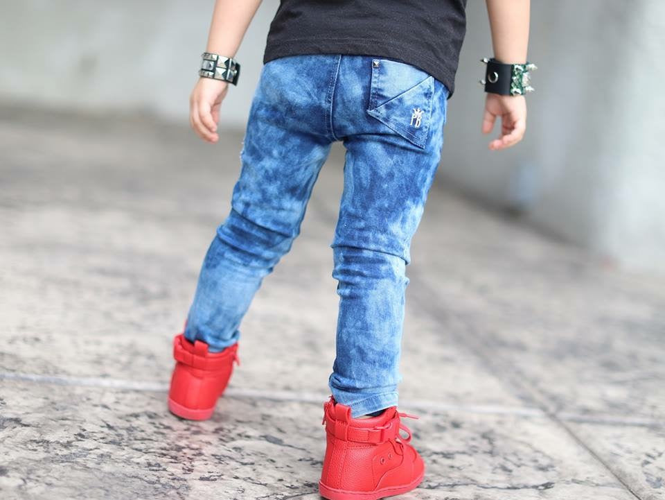 Distressed Authority Denim - BLUE