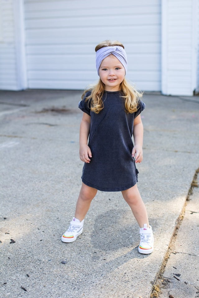 Acid Wash Tee Dress - Kids