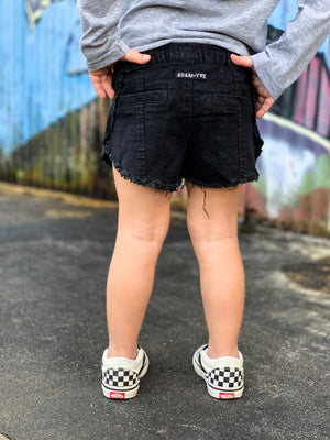 Girls Black Aztec Shorts