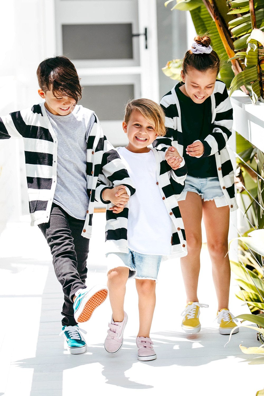 Black and White Premium Knit Cardigan-Kids