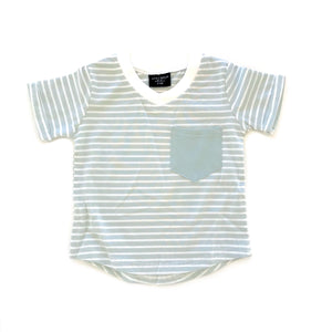 Mint Stripe Swoop Tee