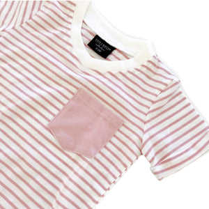 Blush Stripe Swoop Tee