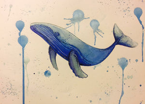 Blue Whale - Ekphrastic Poetry for Rattle Poetry