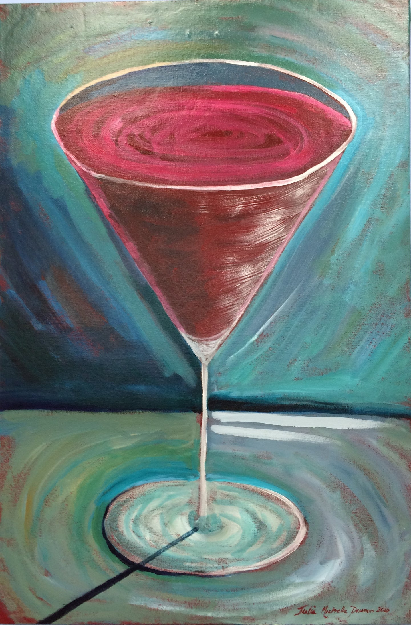 Martini Glass Painting -