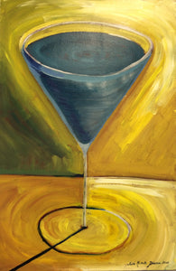 "Martini Glass Painting - ""Lavender"""