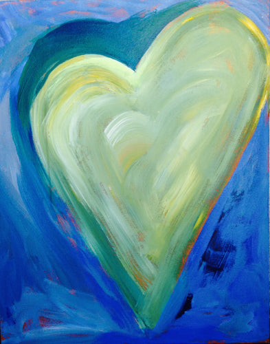 Heart Painting - Yellow