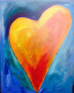 Heart Painting - Orange