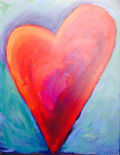 Heart Painting - Red