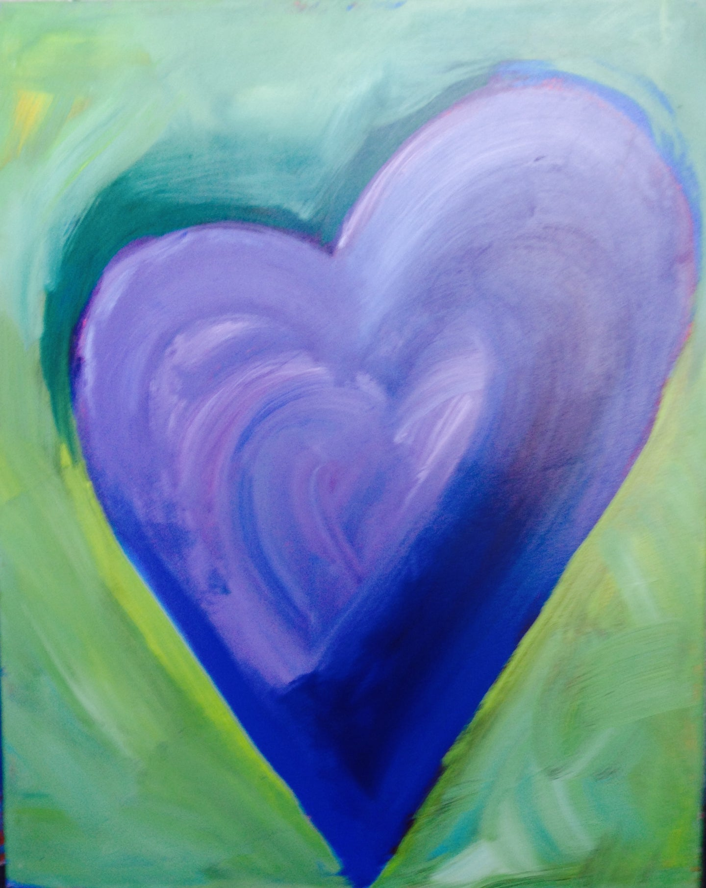 Heart Painting - Aubergine