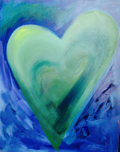 Heart Painting - Green