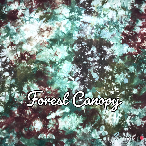 """Forest Canopy"" hand dyed stretchy Sassy Flats reusable flat cloth diapers"
