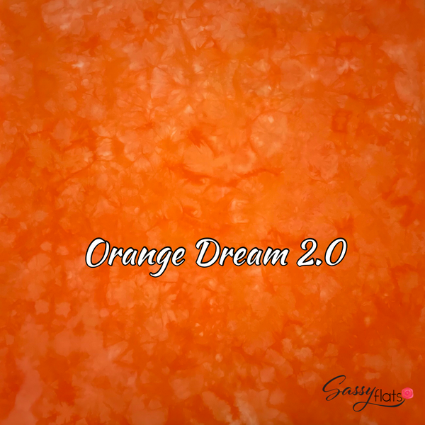 """Orange Dream 2.0"" hand dyed stretchy Sassy Flats reusable flat cloth diapers"