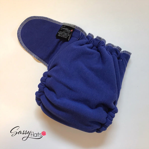 Snapless Fitted - stretchy Sassy Flats reusable cloth diaper