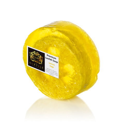 Le Subtile Luxury Loofah soap Lemon Sage