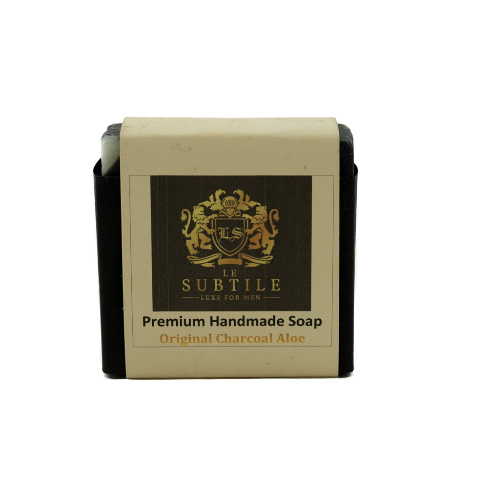 LE SUBTILE  luxe for men Premium Handmade Soap Original Charcoal Aloe
