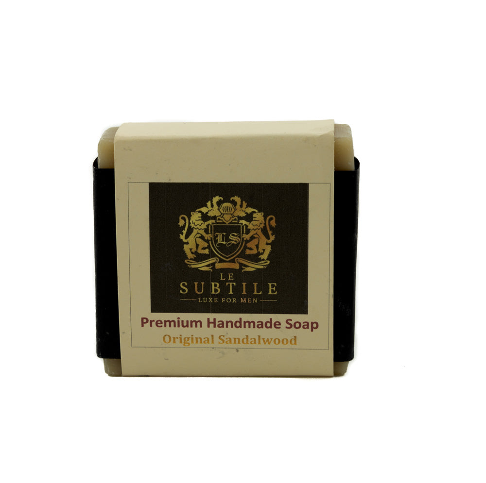 LE SUBTILE  luxe for men Premium Handmade Soap Original Sandalwood