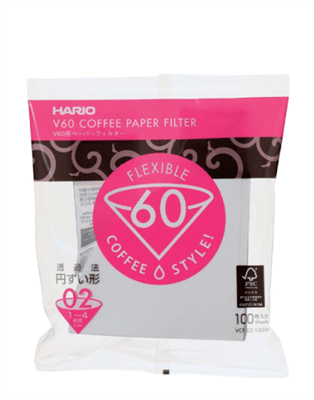 V60 PAPER FILTER SIZE 02 - 100pcs - COYARD Coffee Roasters
