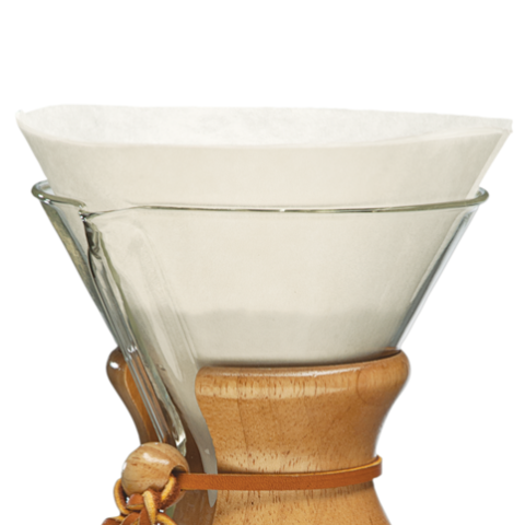 CHEMEX CIRCLE WHITE FILTER 6 CUPS - 100pcs - COYARD Coffee Roasters