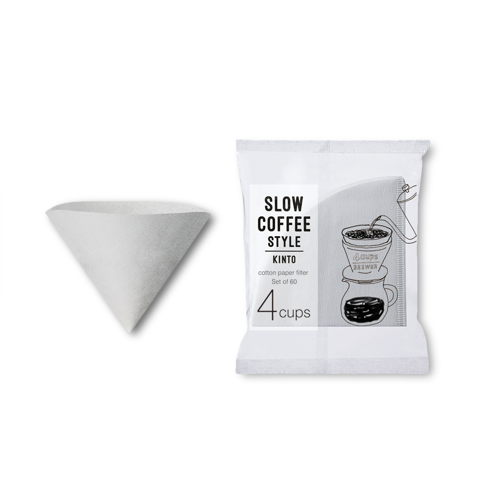 COTTON PAPER FILTER 4CUPS - 60pcs - COYARD Coffee Roasters