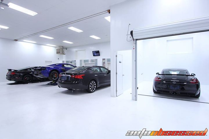 In the Auto Obsessed Detailing Studio...  2016 Porsche GT4 2016 Nissan Maxima 2015 McLaren 650s Spider 2016 Ford Shelby GT350 R