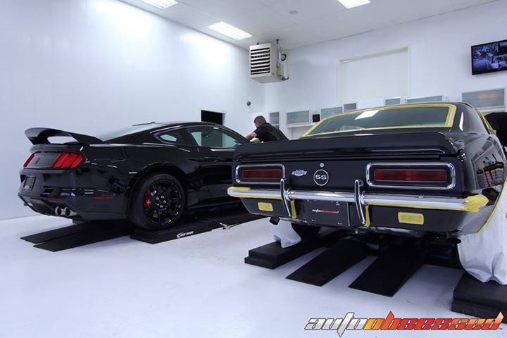 Here is something you don't see often...  Exactly 50 year age difference, a 1967 Camaro modified by Yenko giving you one of the hottest perfoming cars for the drag strip in it's time period, right beside a 2017 GT350 R by Ford Performance giving you one o