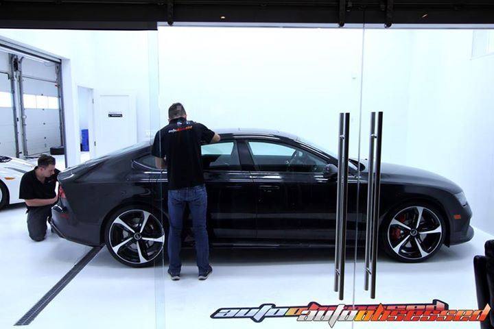 In the Auto Obsessed Clean Room  Waxing with Swissvax OBSSSSD and final detailing on this 2015 Audi RS7  Swissvax OBSSSSD Luxury Show Wax has 68% of yellow and non-bleached Grade One Carnauba wax from northeastern Brazil by volume.    This RS7 is going to
