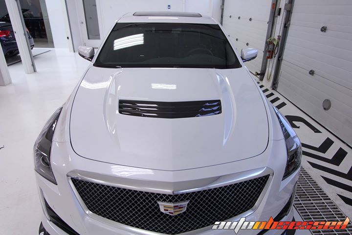 Auto Obsessed performed a New Vehicle Detail to this 2018 Cadillac CTS-V. The exterior underwent a full decontamination wash including iron and tar re