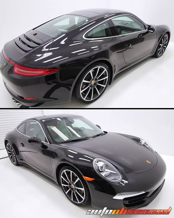 2013 Porsche 911 4S in Mahogany Brown Metallic. Interior and exterior detail. Paint finished with Swissvax OBSSSSD Carnauba Show Wax for deep, luxurio
