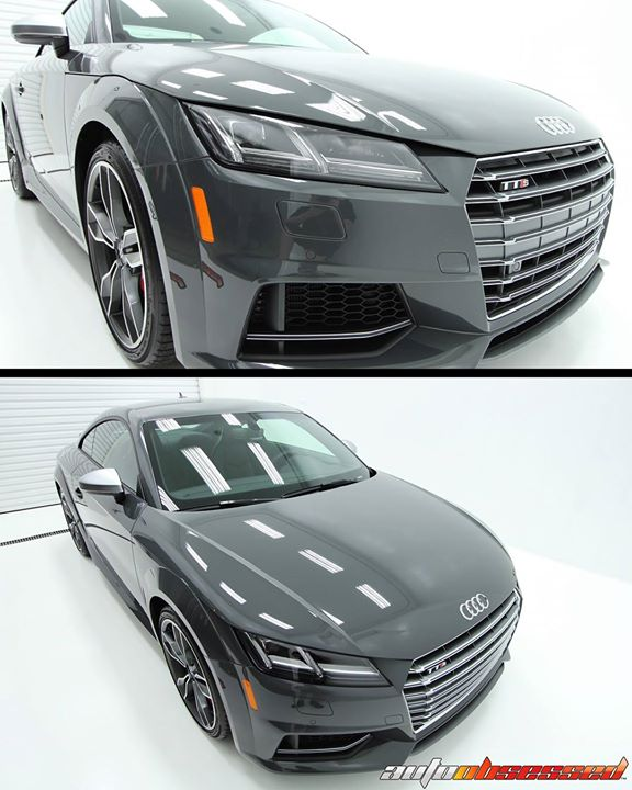 This 2017 Audi TTS got an interior and exterior detail, including wheels-off cleaning, iron-removal, and protective Gtechniq C5 nano coating for the w
