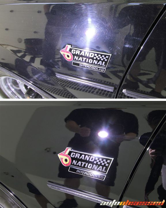 This is paint correction. Polishing away the swirls and scratches to leave a smooth, beautiful surface. 1987 Buick Grand National.  We carry world-cla
