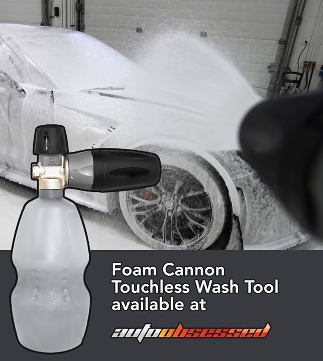 How do you apply foam shampoo when you wash your vehicle? We use the MTM Foam Cannon. Details here: autoobsessed.com/products/foam-cannon-mtm-pf22-pro