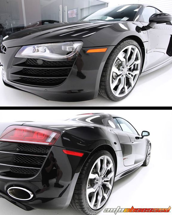 This 2010 Audi R8 V10 received an exterior wash and decontamination, following by a stage of paint correction to polish imperfections out of the clear