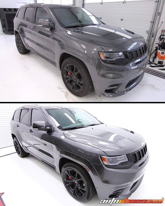 Giving this daily-driven 2017 Jeep Grand Cherokee SRT a head-turning shine.  You're looking at the results of: • an exterior wash and decontamination