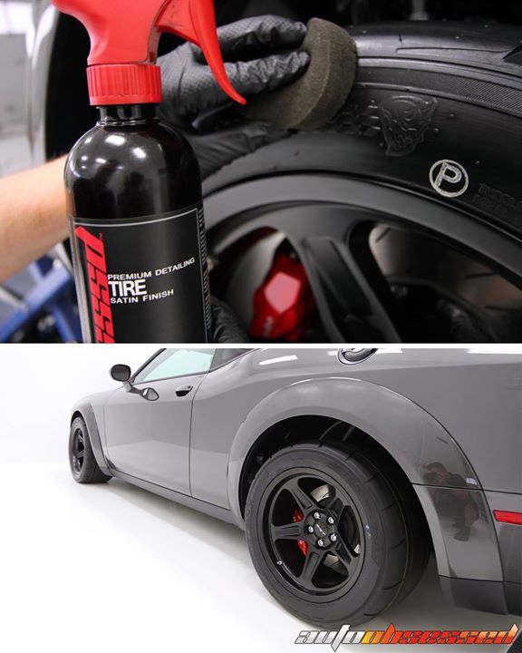 Tires dressed with OBSSSSD Satin Finish Tire Dressing. Can you name the car?