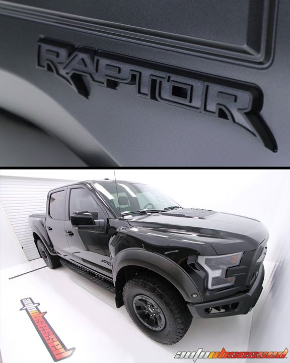 2018 Shadow Black Ford Raptor – almost too big for our Clean Room.  The truck received an exterior detail including wash, decontamination, paint corre