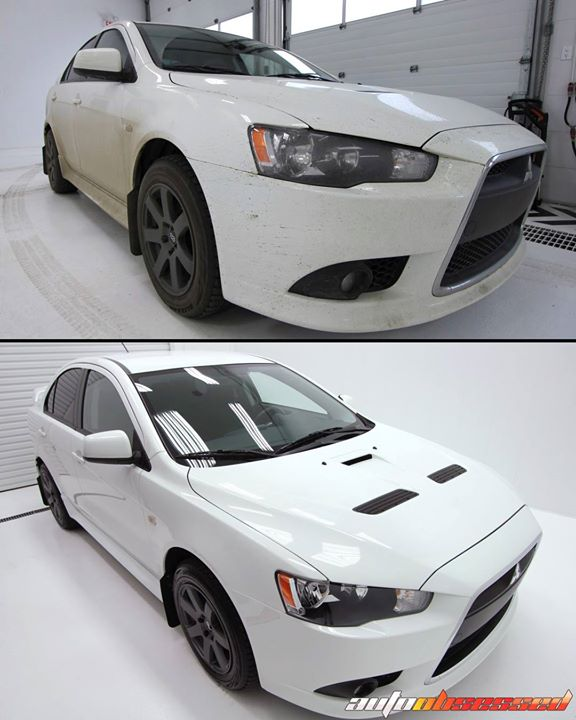 This 2014 Mitsubishi Lancer Ralliart was driven in some wet weather. We gave it a thorough exterior detail (including decontamination to remove embedd
