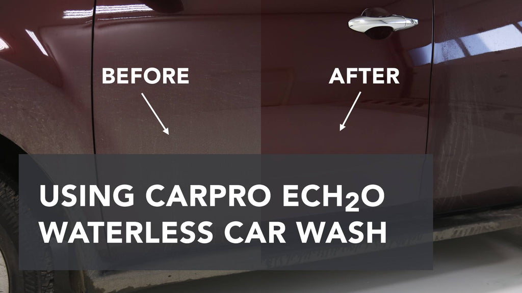 How effective is a waterless wash (a.k.a. rinseless wash)? Watch this new video to find out.  CarPro ECH2O is the top-selling waterless wash product a