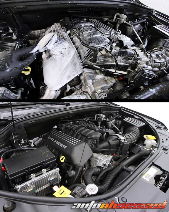 Tough question for you all — can you name this vehicle from just the engine?  We detailed this engine and engine compartment using P21S Total Auto Was