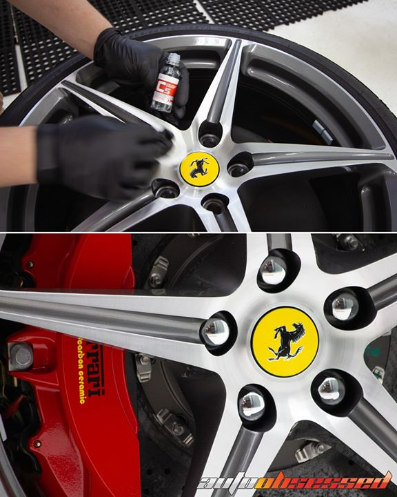 A wheel coating gives the wheels and brake calipers a layer of protection that keeps them looking clean longer!