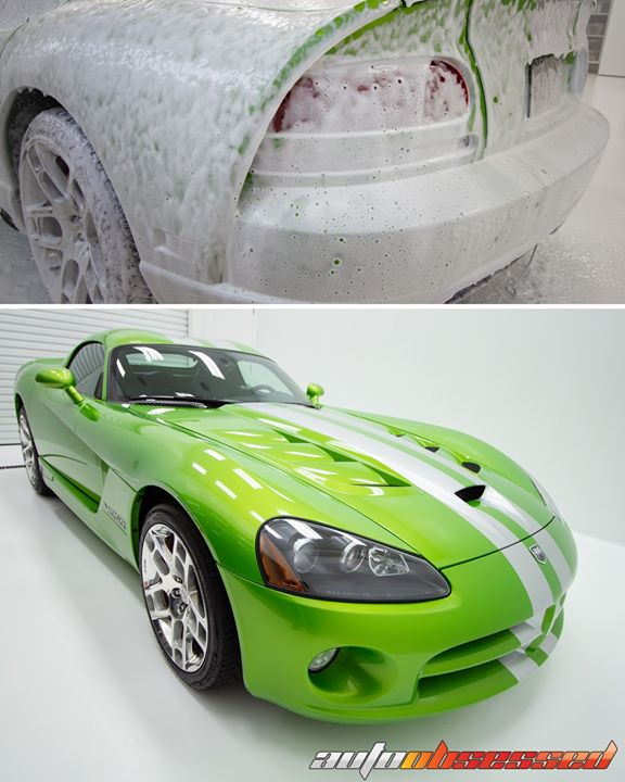 This fourth-gen Dodge Viper SRT-10 after a decontamination wash at our shop in Edmonton.