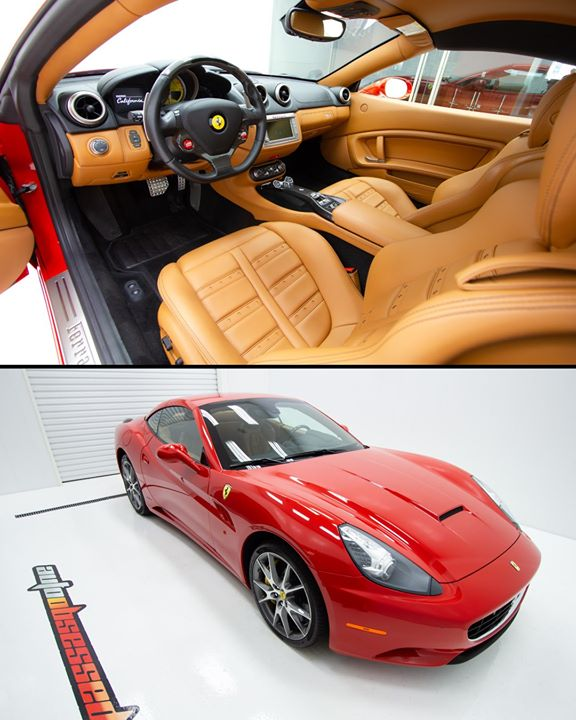 Looks like a gorgeous place to spend time. Lovely soft leather in this 2013 Ferrari California.